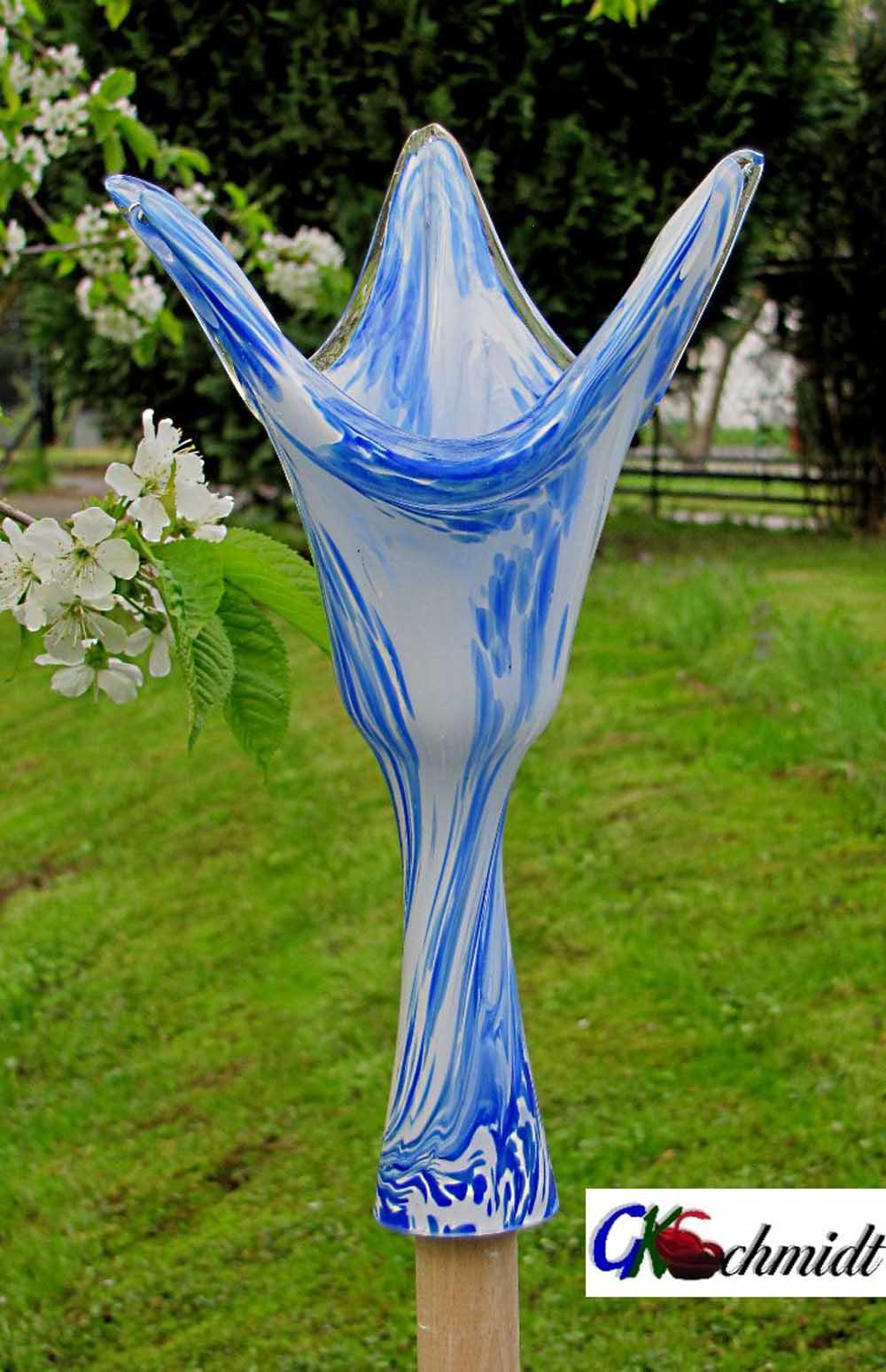 Glasgartenstockfackel