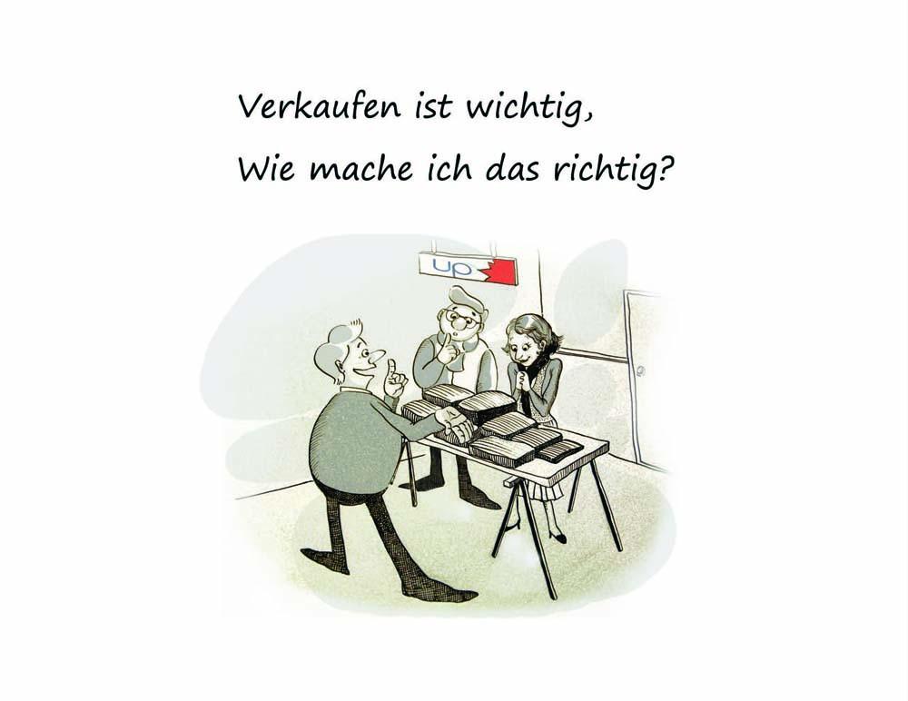 Kommunikations-Cartoons für Verkaufstraining