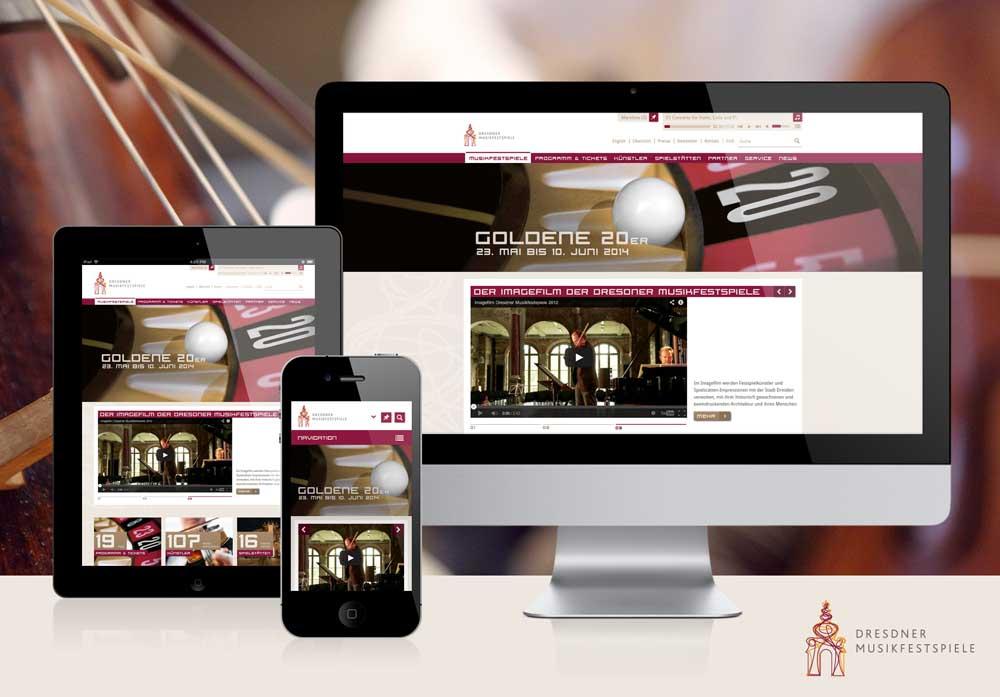 Website für das Klassik-Festival Dresdner Musikfestspiele www.musikfestspiele.com