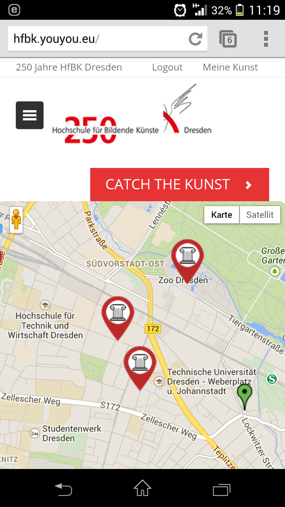 Catch the Kunst – interaktive Kunst-Schnitzeljagd