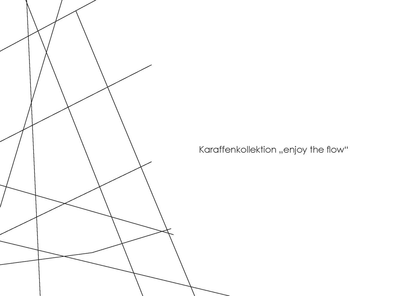 "Karaffenkollektion ""enjoy the flow"