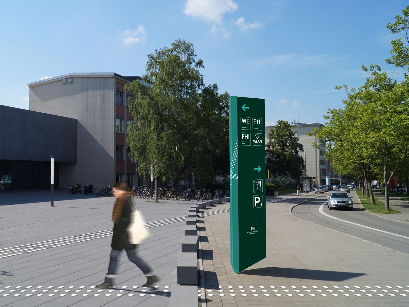 Leit- und Orientierungssystem TU Chemnitz