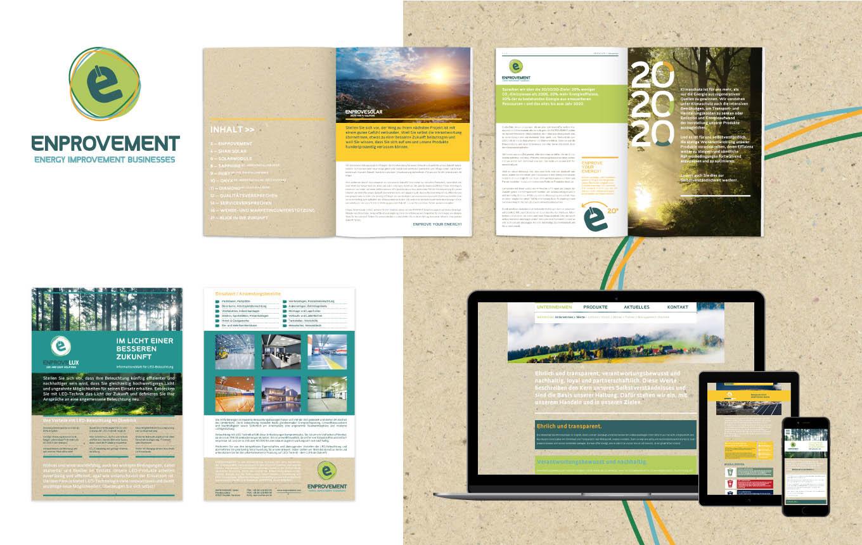 Markenentwicklung + Corporate Design für nachhaltige Energiesysteme von ENPROVEMENT