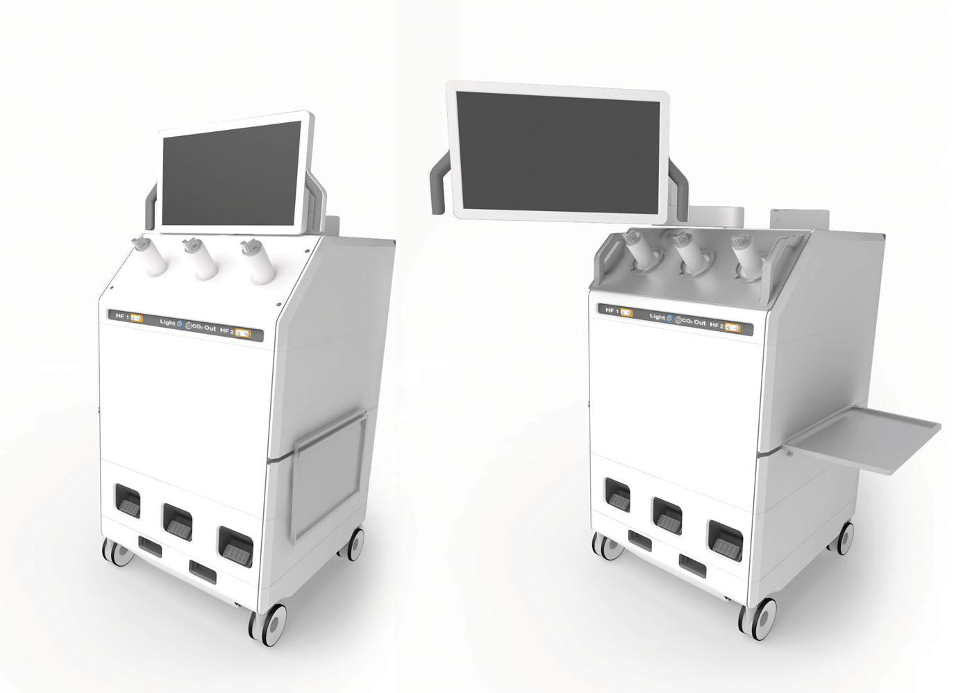Assistentenarbeitsplatz für die minimalinvasive robotische Chirurgie