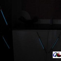lumineszierende Glasschrankgriffe