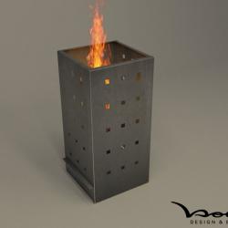 Eckiger Feuerkorb