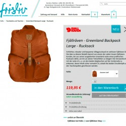"""Gestaltung und Umsetzung """"frisliv Online-Store"""""""