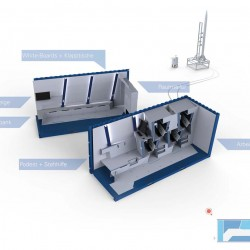 mobiles Test- und Startzentrum für Flüssigkeitsraketen