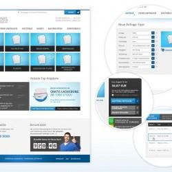Web-to-Print-Portal für die Vereinte Deutsche Druck AG, www.vdd-ag.de
