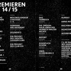 Schauspiel Leipzig – Spielzeitheft 2014/15