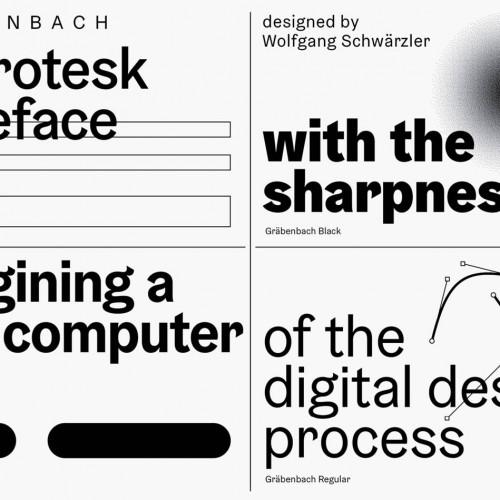 CAMELOT Typefaces – Webseite mit Typetester und vier Schriftfamilien: Gräbenbach, Lelo, Rando und Rosart